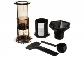 The Aeropress Coffee Maker and all included parts