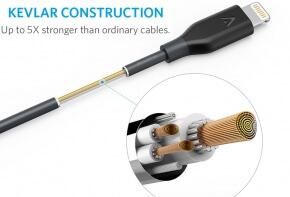 Anker Lightning PowerLine Cable Construction Kevlar