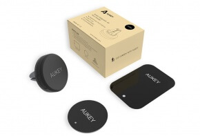 Aukey magnetic vent holder packaging and included