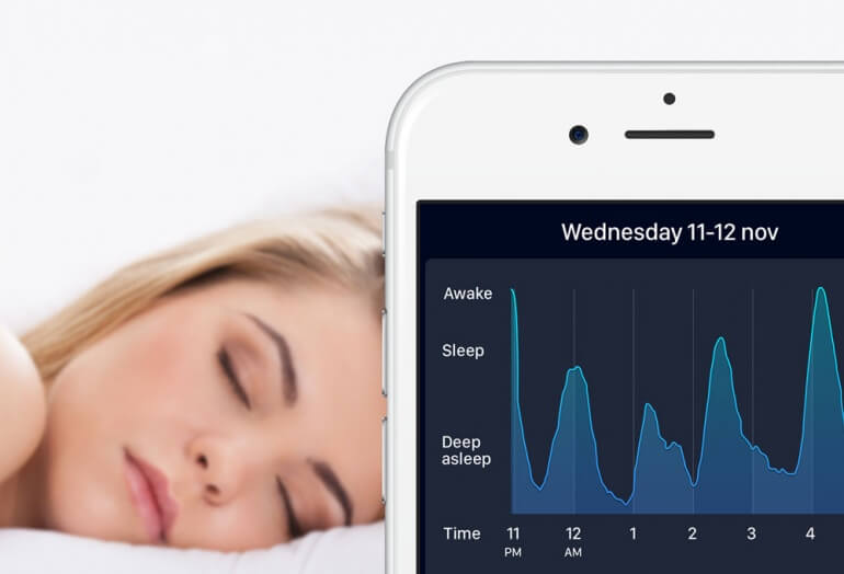 Sleep Cycle App and Woman Sleeping