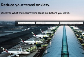 WhatsBusy Airport Security Wait Time Estimator Form