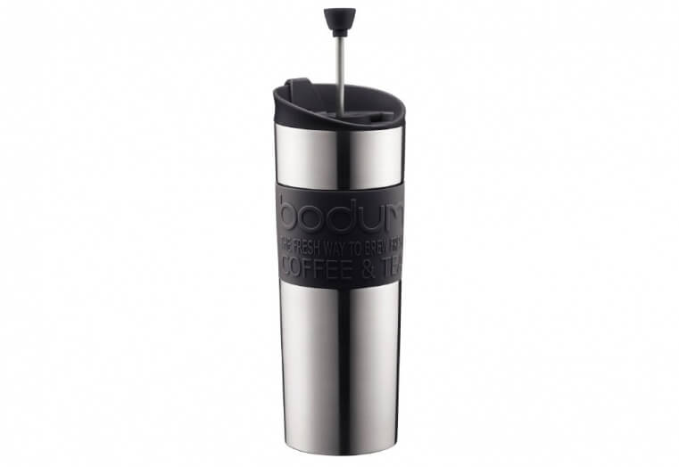 The Bodum French Press Travel Mug in Stainless Steel