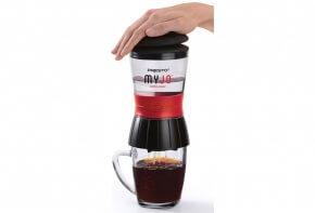 Presto MyJo Single Serve Coffee Maker in Use