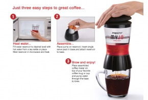Presto MyJo Coffee Maker Steps to Use