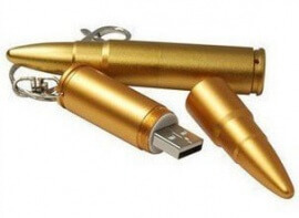 Bullet Keychain USB