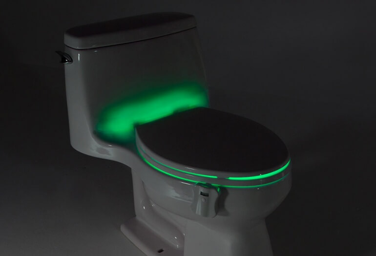 Closed Lid Green Glowbowl Light