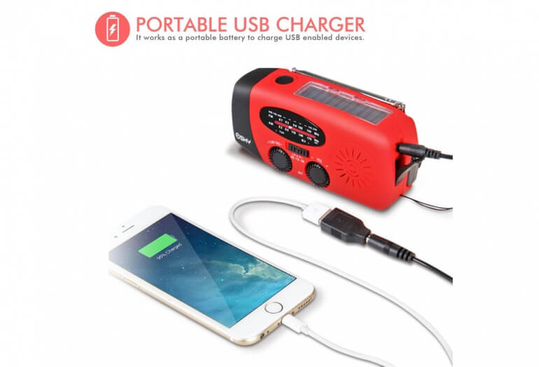 Example of charging an iPhone