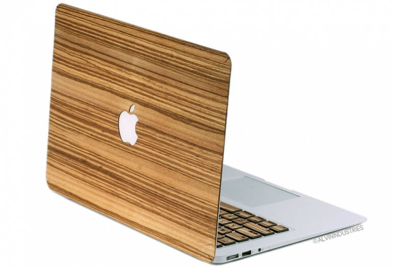 Real Wood Macbook Cover White BG